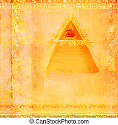 Ancient Pyramid Eye Design