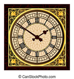 Big Ben at Clock Face - The clock face of the london icon...