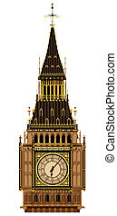Big Ben Clock Face - A detailed illustration of the Big Ben...
