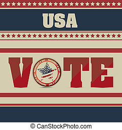 Vote in USA - Poster illustration of votes of the United...