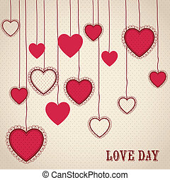 Love Poster - Poster illustration of the day of love and...
