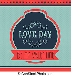 Valentine's Day - Poster illustration of Valentine's Day,...