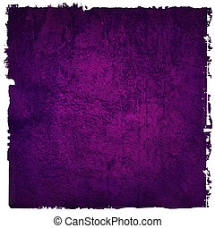 Abstract purple background or paper with bright center spotlight and dark border frame with grunge background texture. For vintage layout design of light colorful graphic art