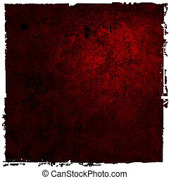 Abstract red background or paper with bright center spotlight and dark border frame with grunge background texture. For vintage layout design of light colorful graphic art