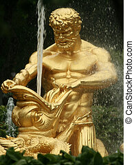 Triton Fountain, Peterhof - Triton fountain in the grounds...