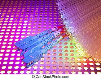 Faser, Optisch, Abstrakt, hintergrund,  Internet, technologie