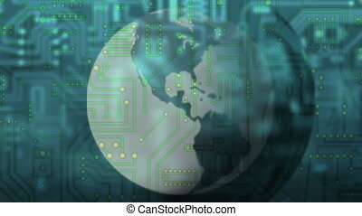 circuit board - globalization - Background Animation - Art...