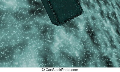 circuit board - cube - Background Animation - Art supplies -...