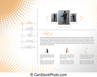 Website template design with professional sellers