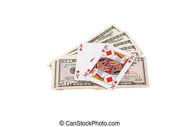 Black Jack - The card combination black Jack, lays on the...