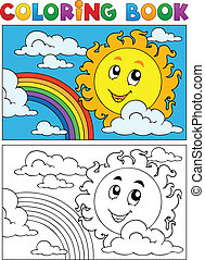 Coloring book summer image 1 - vector illustration.