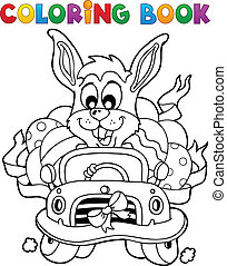 Coloring book with Easter theme 7 - vector illustration.