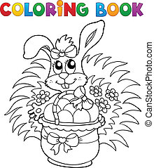 Coloring book with Easter theme 9 - vector illustration.