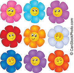 Flower theme image 4 - vector illustration