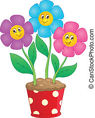 Flower theme image 7 - vector illustration