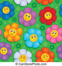 Flowery seamless background 8 - vector illustration