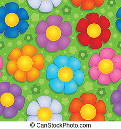 Flowery seamless background 9 - vector illustration