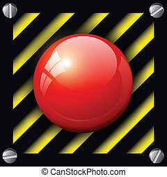 alarm  button - Red alarm button background, vector.