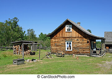 Traditional Canadian rural house from old times.
