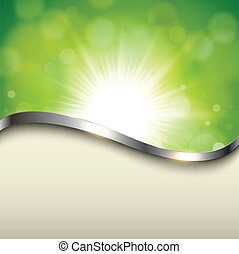 Natural background - Natural green background with metallic...