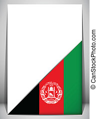 Afghanistan Country Flag Turning Page