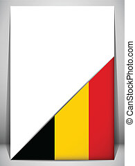 Belgium Country Flag Turning Page