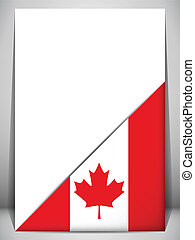 Canada Country Flag Turning Page