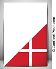 Denmark Country Flag Turning Page