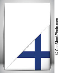 Finland Country Flag Turning Page