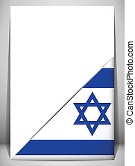 Israel Country Flag Turning Page