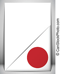 Japan Country Flag Turning Page