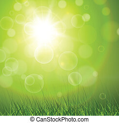 Natural background - Natural green background with vector...