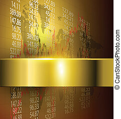 business background gold, vector