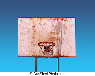 Isolated Basketball Hoop - An isolated basketball hoop over...