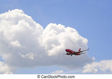 Commercial Jet - A commercial passenger plane in its descent...