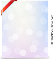 Banner With Red Ribbon And Bokeh