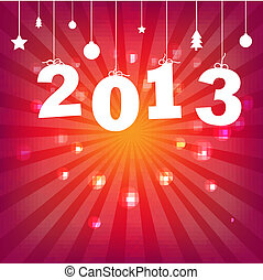Color Happy New Years Card
