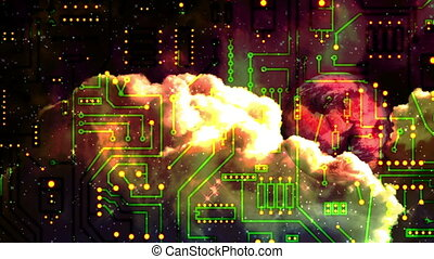 circuit board - space abstract - Background Animation - Art...
