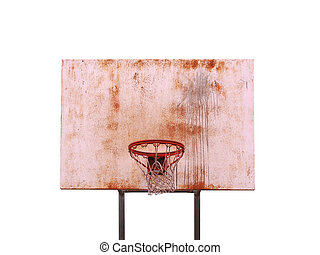 Isolated Basketball Hoop - A basketball hoop isolated over...