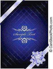 Vector blue present background