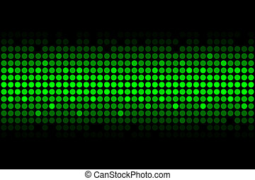 green lights - Vector abstract background - green lights