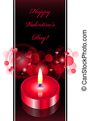 background with red candle