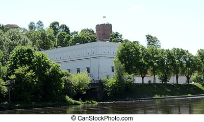 gediminas castle river - Gediminas castle with tricolor...