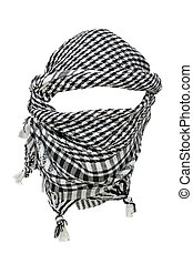 Keffiyeh - traditional Arabic headgear isolated on white...