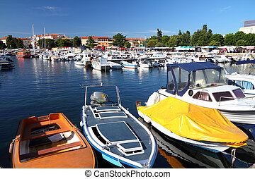 Porec - Boats in marina - Porec on Istria peninsula, Croatia
