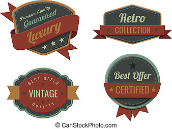 Vintage Labels template collection.