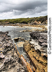 Australia - Jervis Bay in New South Wales. Coast and the...