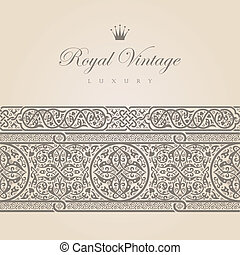 Vintage Floral border design elements