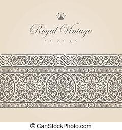 Vintage Floral border design elements