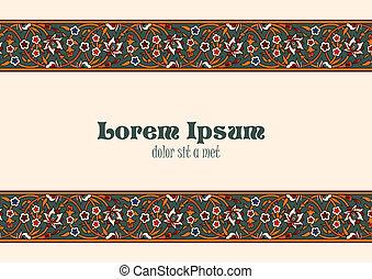Vintage Floral border tiling elements.